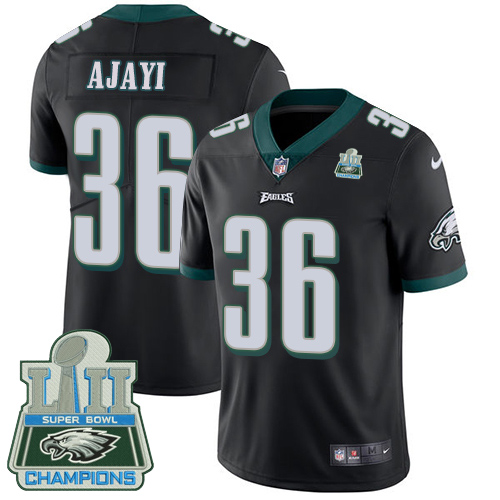 Nike Eagles 36 Jay Ajayi Black 2018 Super Bowl Champions Youth Vapor Untouchable Player Limited Jersey