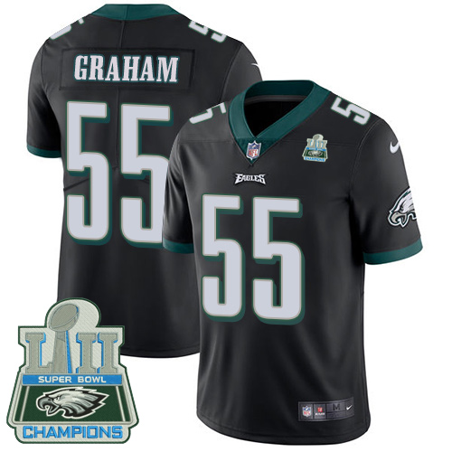 Nike Eagles 55 Brandon Graham Black 2018 Super Bowl Champions Youth Vapor Untouchable Player Limited Jersey