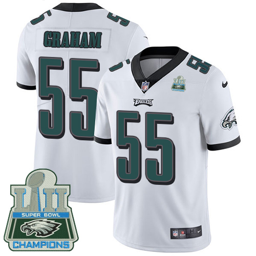 Nike Eagles 55 Brandon Graham White 2018 Super Bowl Champions Youth Vapor Untouchable Player Limited Jersey