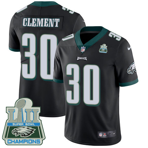 Nike Eagles Corey Clement Black 2018 Super Bowl Champions Youth Vapor Untouchable Player Limited Jersey