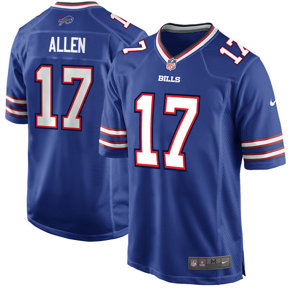Nike Bills 17 Josh Allen Royal 2018 NFL Draft Pick Elite Jersey