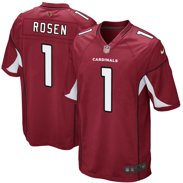 Nike Cardinals 1 Josh Rosen Red 2018 NFL Draft Pick Elite Jersey