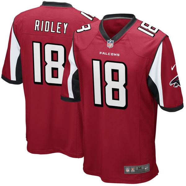 Nike Falcons 18 Calvin Ridley Red 2018 NFL Draft Pick Elite Jersey