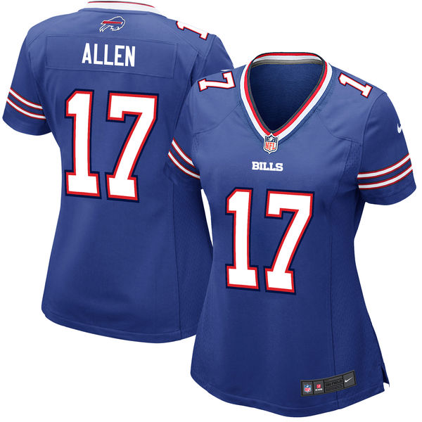 Nike Bills 17 Josh Allen Royal Women 2018 Draft Pick Game Jersey