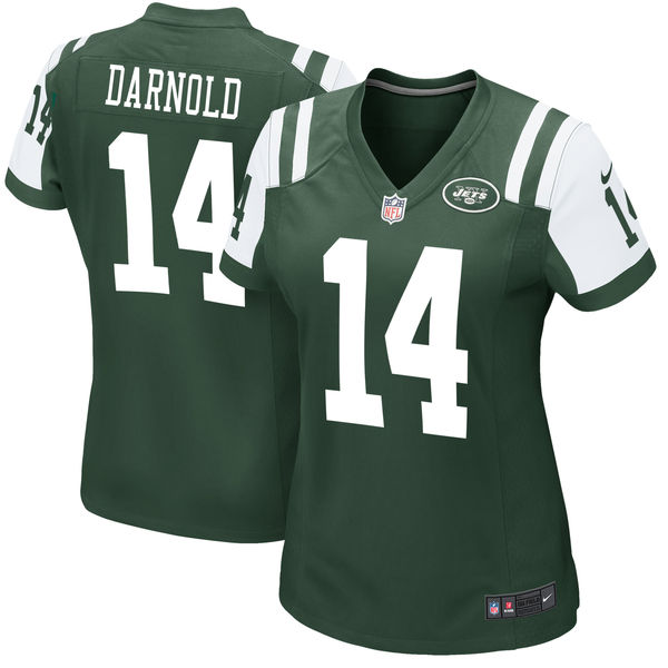Nike Jets 14 Sam Darnold Green Women 2018 Draft Pick Game Jersey