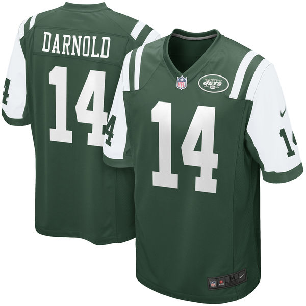 Nike Jets 14 Sam Darnold Green Youth 2018 Draft Pick Game Jersey