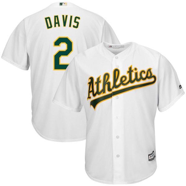 Athletics 2 Khris Davis White Cool Base Jersey