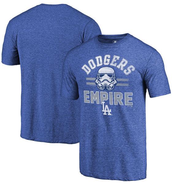 Los Angeles Dodgers Fanatics Branded Royal MLB Star Wars Empire Tri-Blend T-Shirt