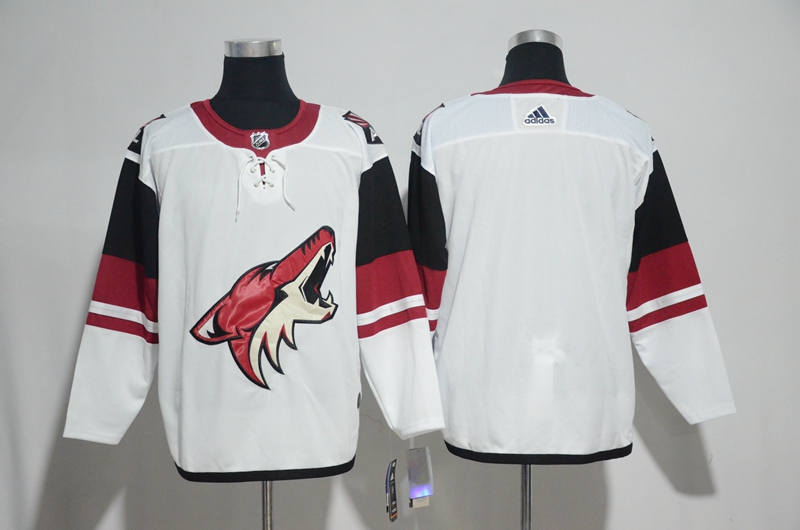 Coyotes Blank White Adidas Jersey