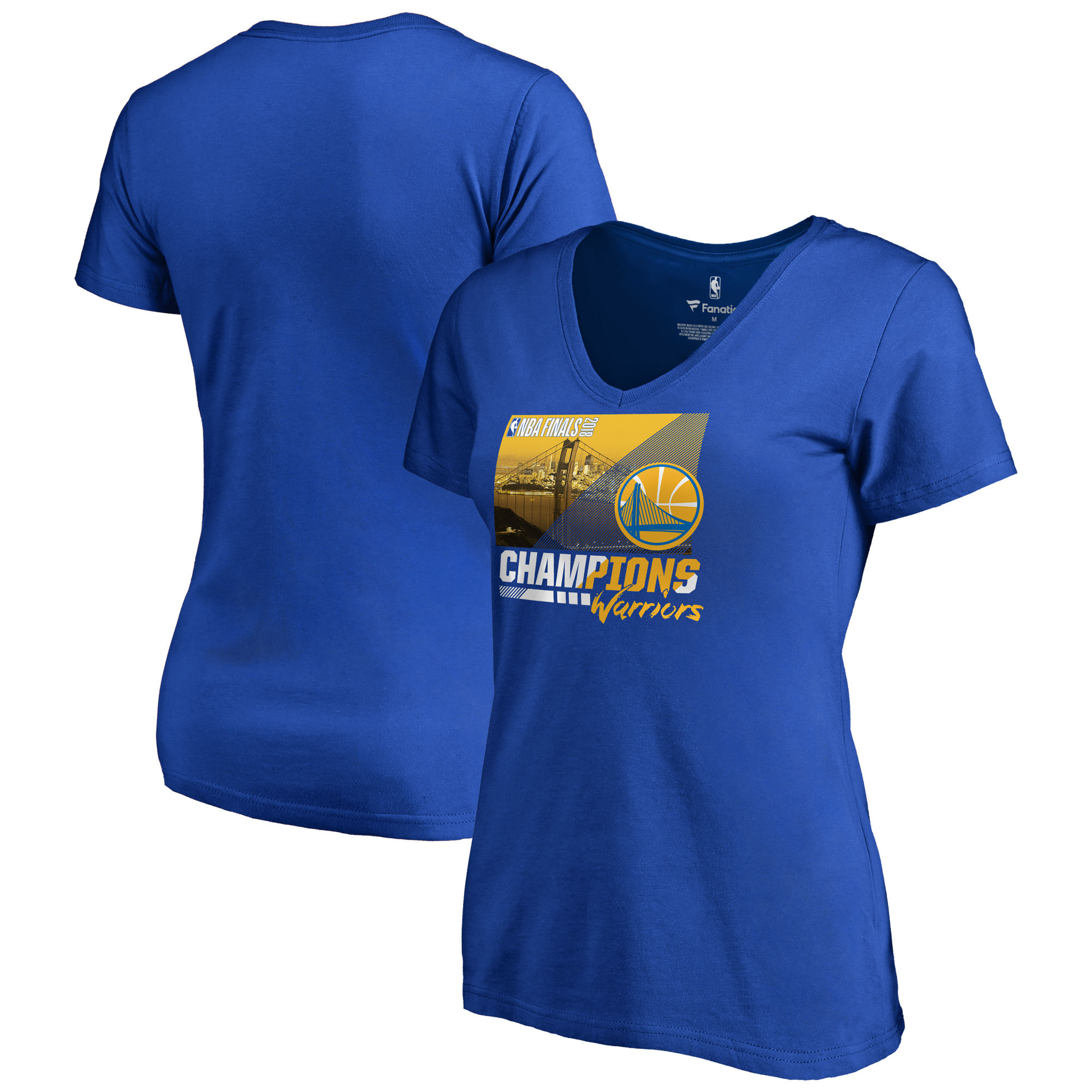Golden State Warriors Fanatics Branded Women's 2018 NBA Finals Champions Notorious V-Neck T-Shirt Royal
