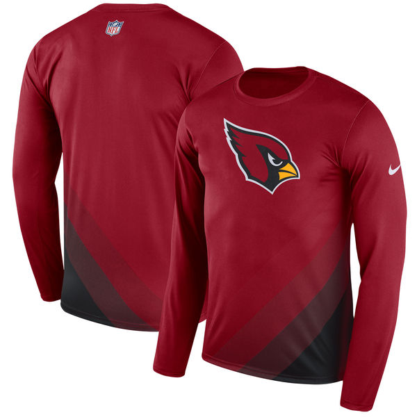 Men's Arizona Cardinals Nike Cardinal Sideline Legend Prism Performance Long Sleeve T-Shirt