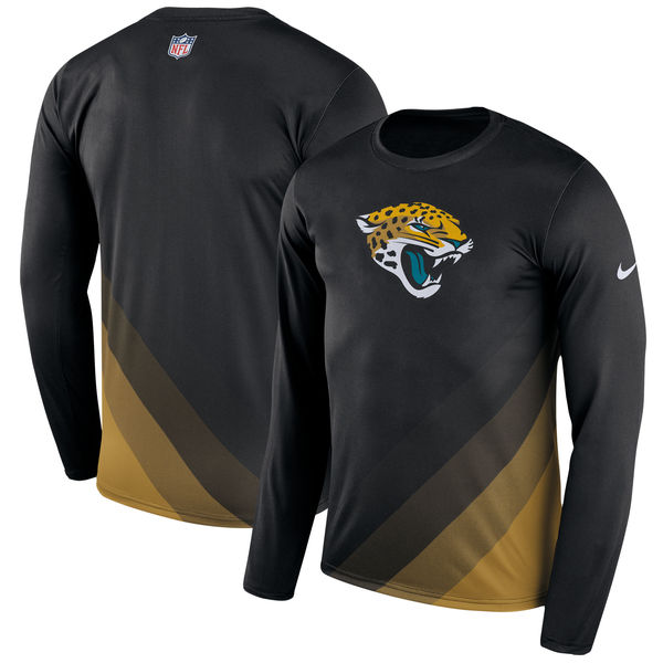 Men's Jacksonville Jaguars Nike Black Sideline Legend Prism Performance Long Sleeve T-Shirt