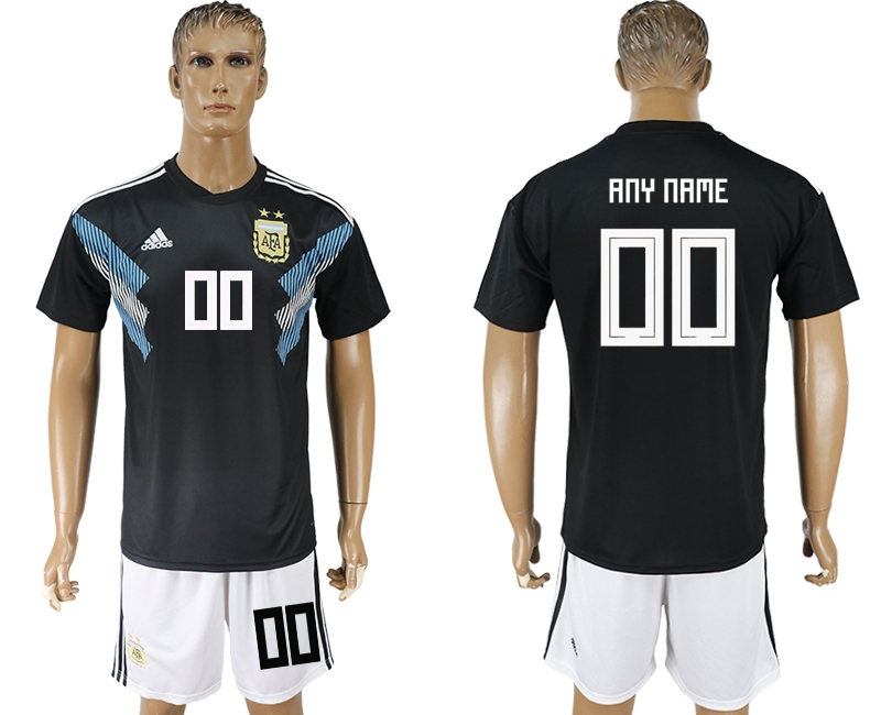 Argentina Away 2018 FIFA World Cup Men's Customized Jersey