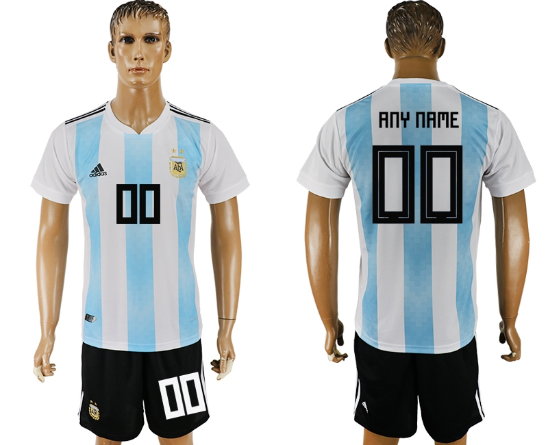 Argentina Home 2018 FIFA World Cup Men's Customized Jersey