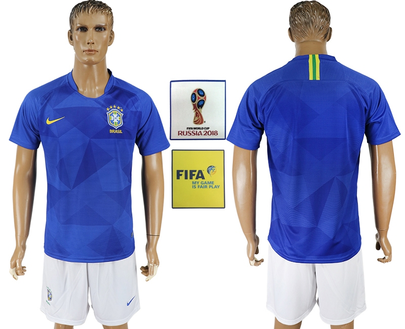 Brazil Away 2018 FIFA World Cup Men's Customized Jersey