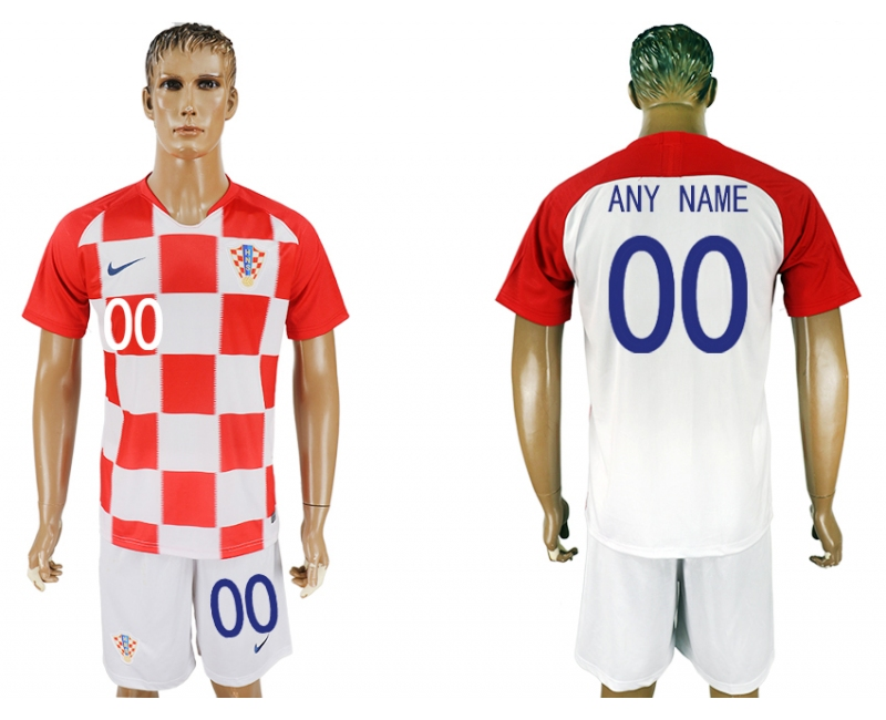 Croatia Home 2018 FIFA World Cup Men's Customized Jersey