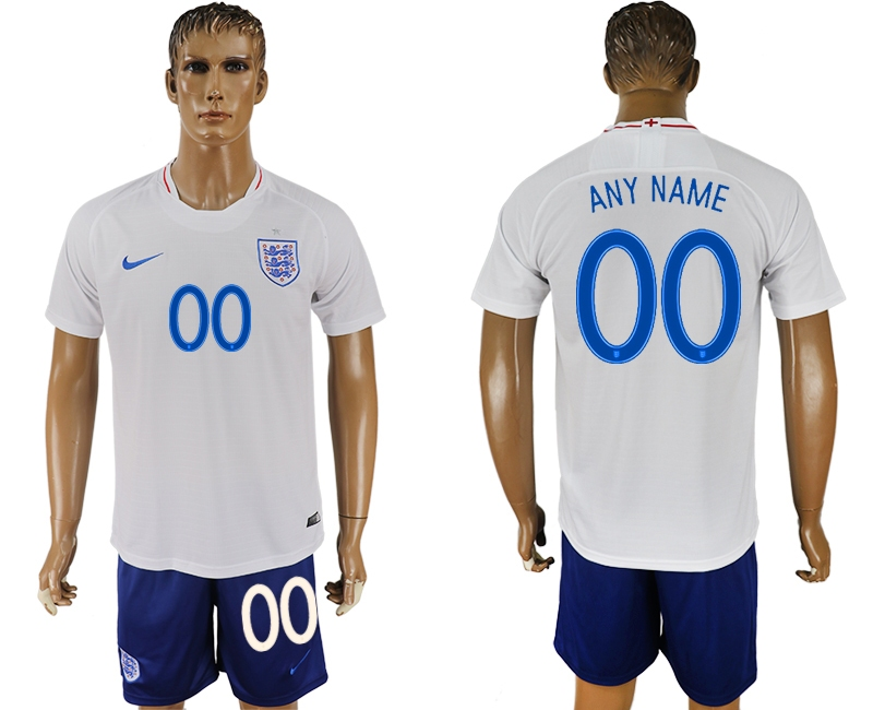 England Home 2018 FIFA World Cup Men's Customized Jersey