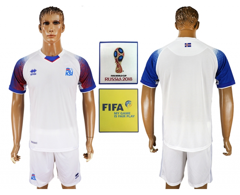 Iceland Away 2018 FIFA World Cup Men's Customized Jersey