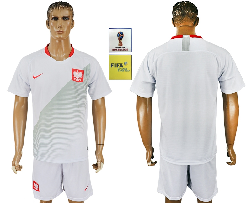Poland Home 2018 FIFA World Cup Men's Customized Jersey