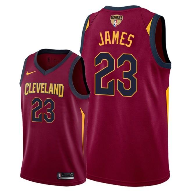Cavaliers 23 Lebron James Red 2018 NBA Finals Nike Swingman Jersey