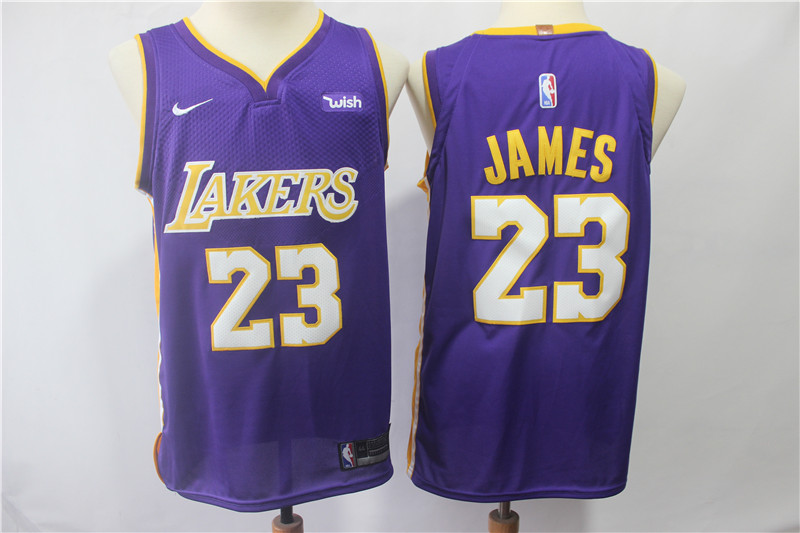 c9d2a09ceab6 New Lakers 23 Lebron James Purple Nike Authentic Jersey cheap sale