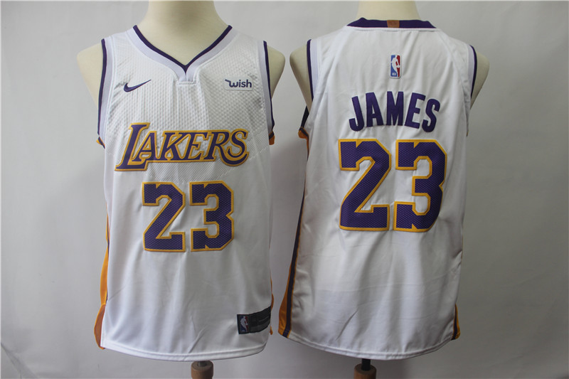 12e99ae1 New Lakers 23 Lebron James White Nike Authentic Jersey cheap sale