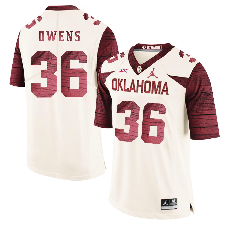 Oklahoma Sooners 36 Steve Owens White 47 Game Winning Streak College Football Jersey