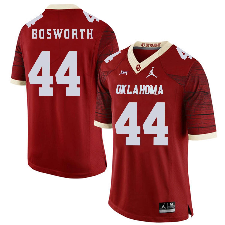 Oklahoma Sooners 44 Brian Bosworth Red 47 Game Winning Streak College Football Jersey