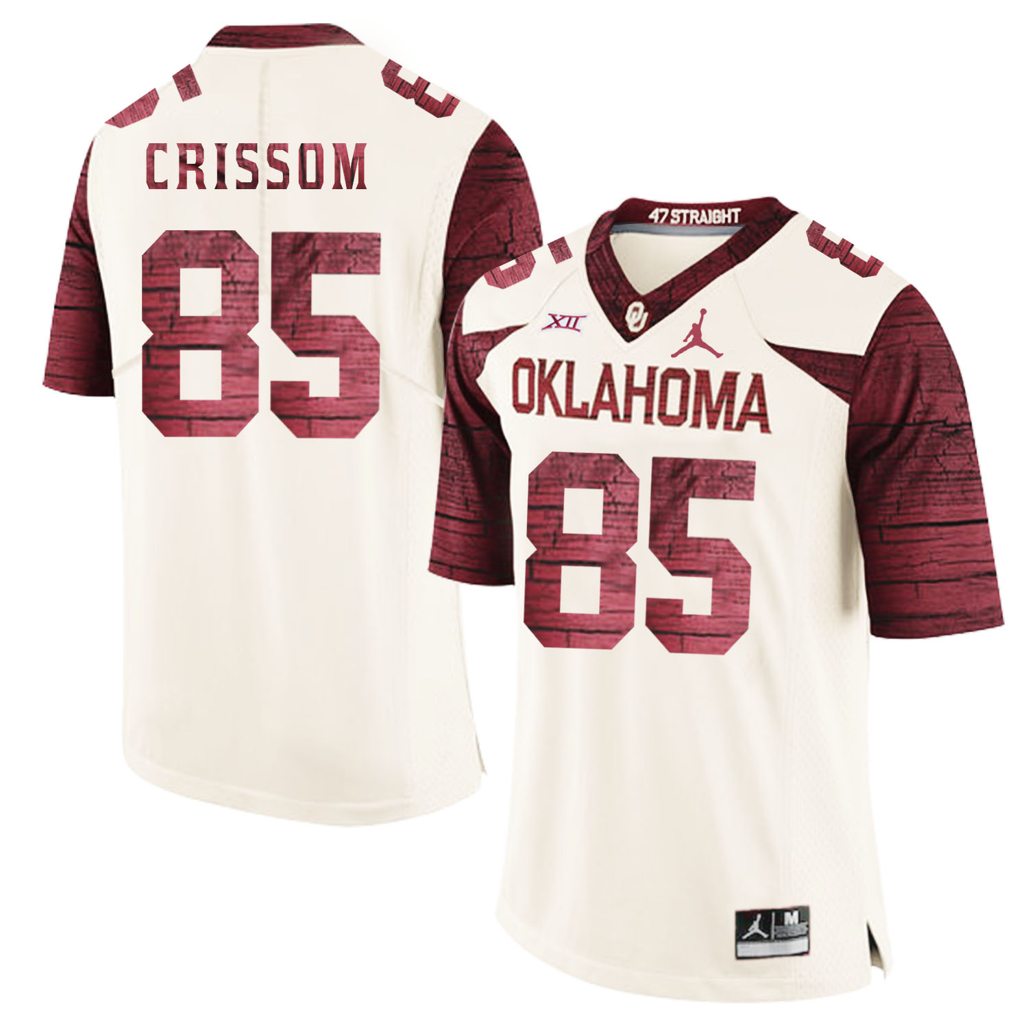 Oklahoma Sooners 85 Geneo Grissom White 47 Game Winning Streak College Football Jersey