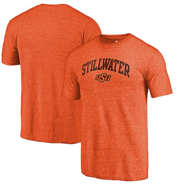 Oklahoma State Cowboys Fanatics Branded Orange Arched City Tri-Blend T-Shirt