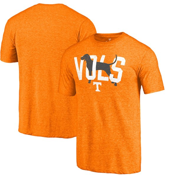 Tennessee Volunteers Fanatics Branded Tennessee Orange Smokey Hometown Tri-Blend T-Shirt