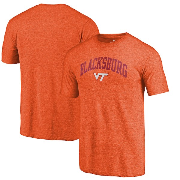 Virginia Tech Hokies Fanatics Branded Orange Arched City Tri-Blend T-Shirt
