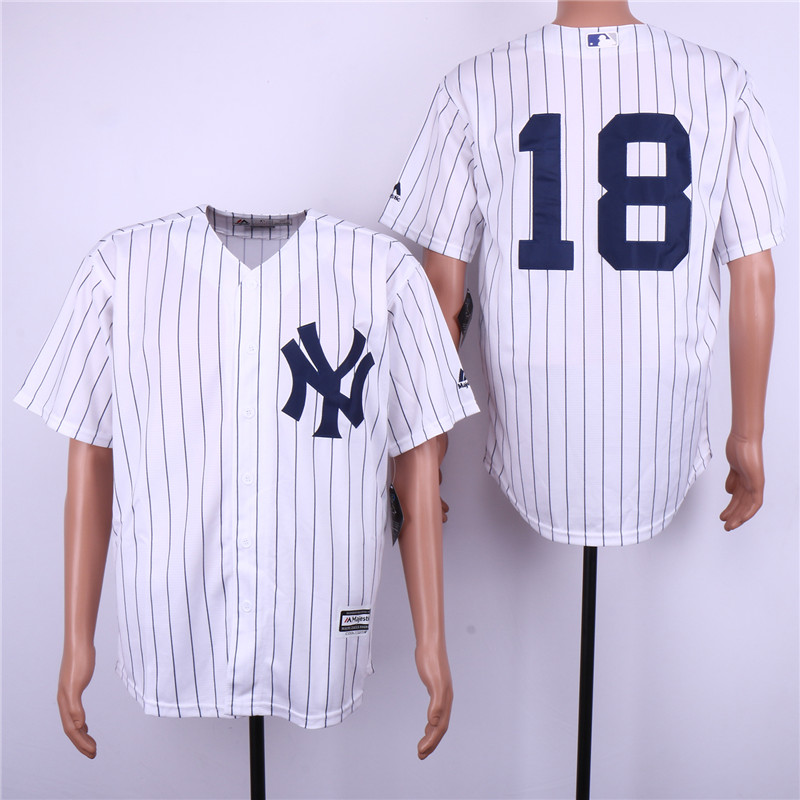 Yankees 18 Didi Gregorius White Cool Base Jersey