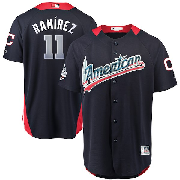 American League 11 Jose Ramirez Navy 2018 MLB All-Star Game Home Run Derby Jersey