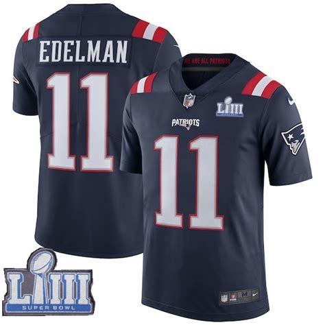 Nike Patriots 11 Julian Edelman Navy 2019 Super Bowl LIII Color Rush Limited Jersey