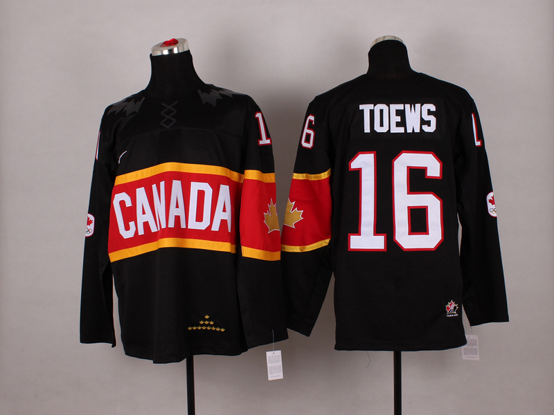 Canada 16 Toews Black 2014 Olympics Jerseys