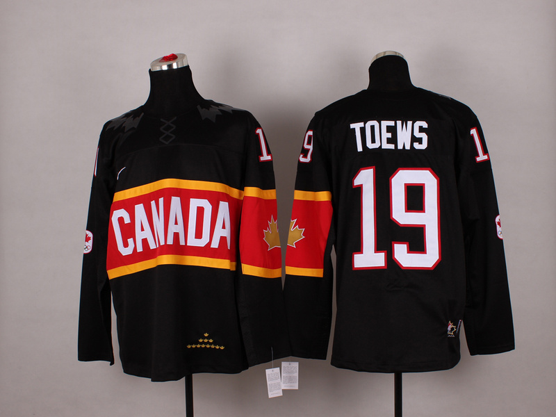 Canada 19 Toews Black 2014 Olympics Jerseys