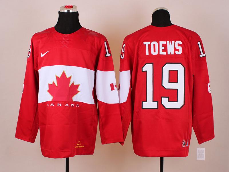 Canada 19 Toews Red 2014 Olympics Jerseys