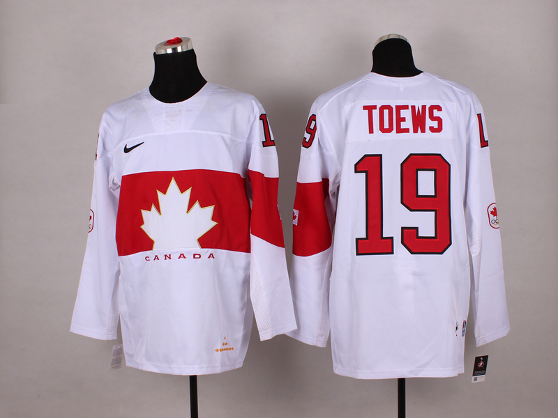 Canada 19 Toews White 2014 Olympics Jerseys