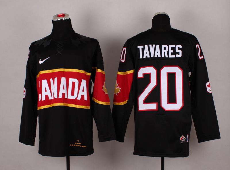 Canada 20 Tavares Black 2014 Olympics Jerseys