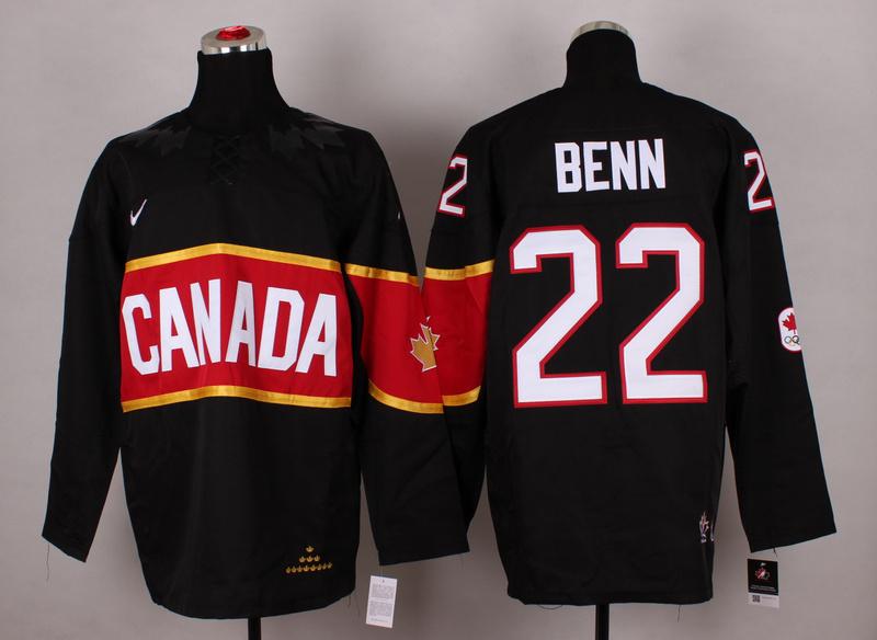 Canada 22 Benn Black 2014 Olympics Jerseys