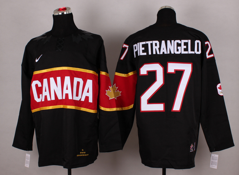 Canada 27 Pietrangelo Black 2014 Olympics Jerseys