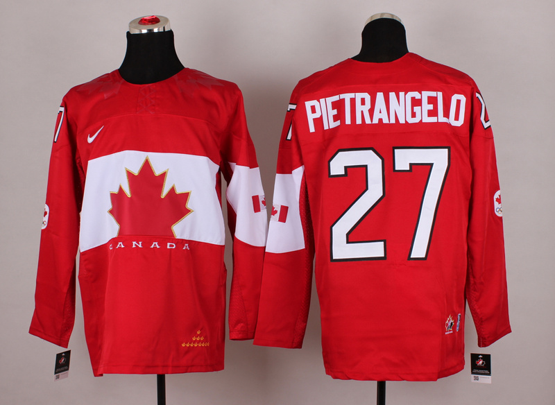 Canada 27 Pietrangelo Red 2014 Olympics Jerseys