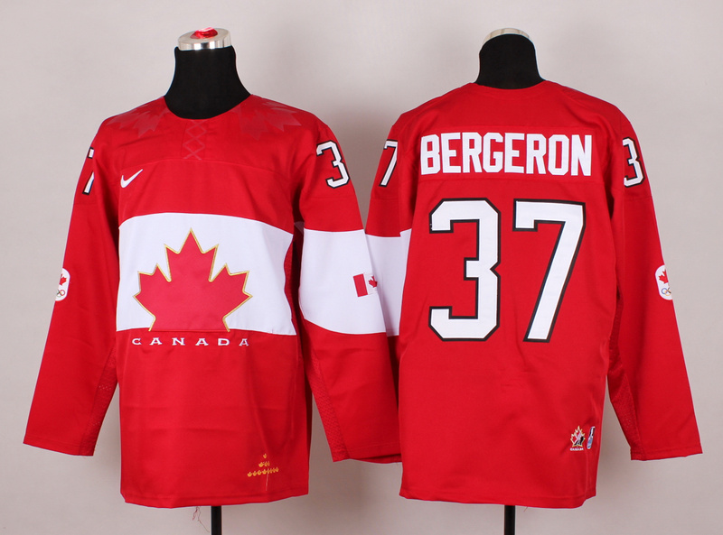 Canada 37 Bergeron Red 2014 Olympics Jerseys