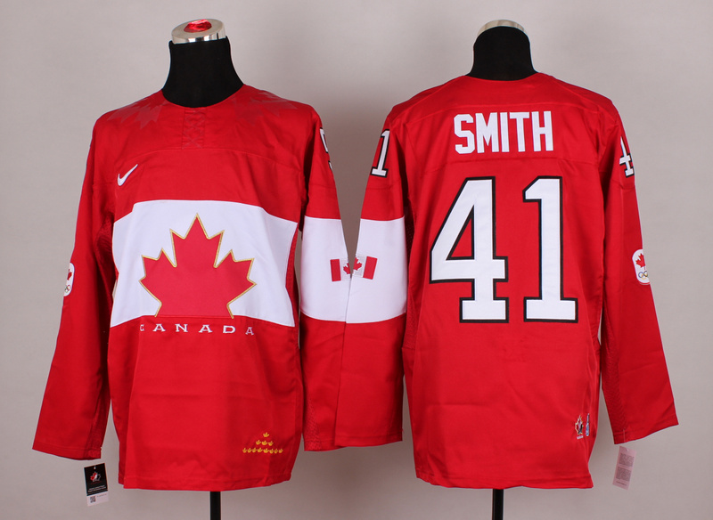 Canada 41 Smith Red 2014 Olympics Jerseys