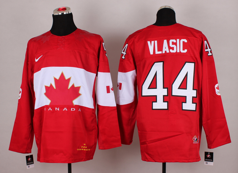 Canada 44 Vlasic Red 2014 Olympics Jerseys