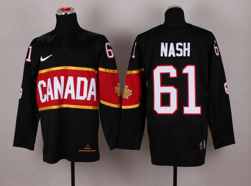 Canada 61 Nash Black 2014 Olympics Jerseys