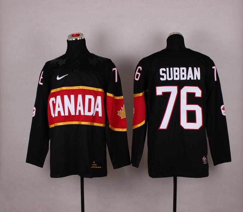 Canada 76 Subban Black 2014 Olympics Jerseys