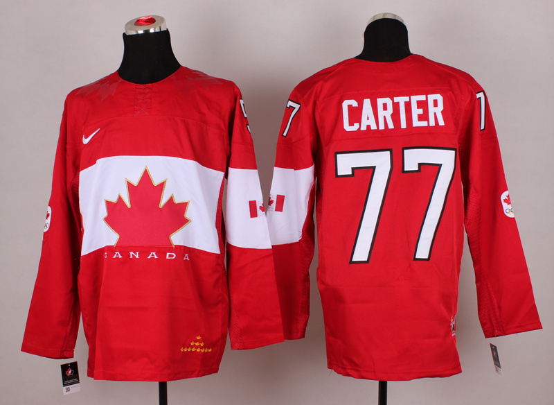 Canada 77 Carter Red 2014 Olympics Jerseys