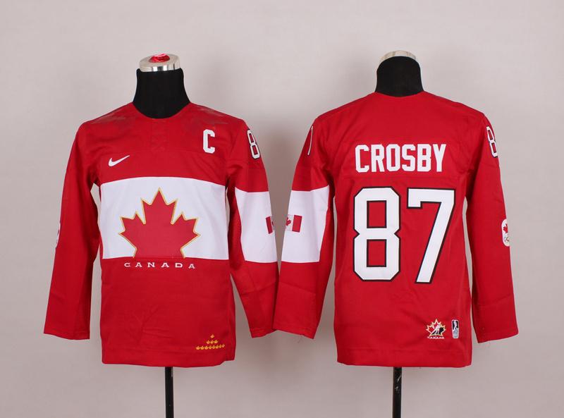 Canada 87 Crosby Red 2014 Olympics Kids Jerseys